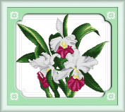 CaptainCrafts New Cross Stitch Kits Patterns Embroidery Kit - Lily Flowers Burst Into Bloom