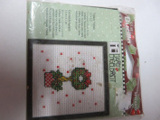 BUCILLA COUNTED CROSS STITCH TOPIARY WREATH 6.4cm X 6.4cm