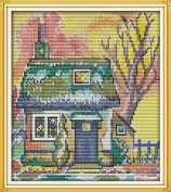 CaptainCrafts New Cross Stitch Kits Patterns Embroidery Kit - The Cabin
