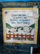 Counting Sheep Counted Cross Stitch ... 13cm x 13cm