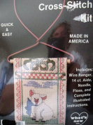 French Country Cross Stitch Kit ... Pig with Bow