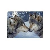Blxecky 5D DIY Diamond Painting By Number Kits,Wolf(12X16inch/30X40cm)