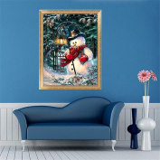 MEXUD-DIY Stitch Craft Needlework with Christmas Snowman Diamond Embroidery Diamond Painting for Home Decor