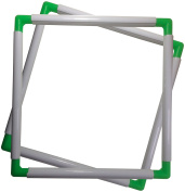 BaouRouge' Universal Clip Frame for Embroidery, Quilting, Cross-stitch, Needlepoint, Silk-painting, etc - 30cm x 30cm
