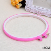 LAYs Embroidery Hoop Plastic Round Frame Cross Stitch Hand Sewing Crafts Tools