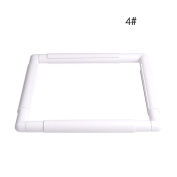 LAYs Embroidery Hoop Plastic White Frame Square Handhold Cross Stitch Craft DIY Tool