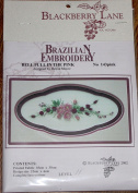 Bell Pull - Blackberry Lane Brazilian Embroidery pattern #143 Pink