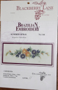 Summer Spray - Blackberry Lane Brazilian Embroidery pattern #144