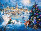 DIY Christmas Gift, 5D Diamond Painting DIY Resin Round Diamond Cross Stitch Kits Christmas Decorative Present 41cm x 30cm