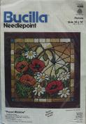 Bucilla Needlepoint Poppy Windows Kit #4388