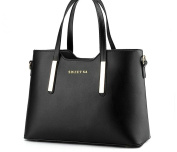 BeAllure Women's Classic Pure Colour Top-Handle Handbag for Lady and Teens