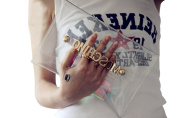 Mogor Women's Clear Clutch Transparent Hologram Handbag Purse Party Handbag