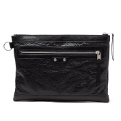 BALENCIAGA Leather Medium Clutch Bag 273022