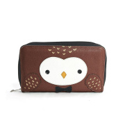 Sleepyville Critters Snow Owl Face Wallet On Vinyl