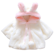Evelin LEE Cute Baby Girl Fur Winter Warm Coat Cloak Jacket Thick Warm Clothes