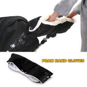 Hiltow Plush Stroller Hand Muff - Black Stroller Accessory
