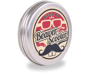 Beaver Scooter Unscented Moustache Wax Large 30ml Metal Pocket Tin