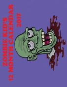 2017 Kids Zombie 12 Month Wall Calendar