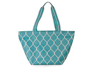 All For Colour Turquoise Quatrefoil Large Tote