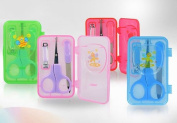 MANICURE SET Akuku Baby Child Scissors Clipper Nail File Elegant Case A0040