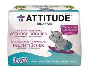Attitude Baby Wipes Refill 3 x 72