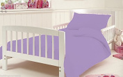 Duvet Covet Set For Cot Bed Toddler Baby Bed Egyptian Cotton 200 Tread Count 120 x 140 Cm Approximately , Lilac