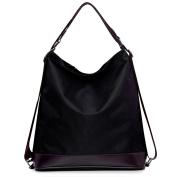 Millya Women's Handbag Nylon Tote Shoulder Bag Crossbody Bag Ladies Multifunctional Purse Convertible Backpack