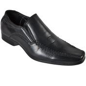 Boys School College Uniform Black Slip On Formal Dress Shoes Size UK