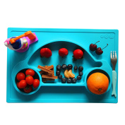 Galaxy 1 Piece Car Silicone Placemat & Tray, Blue