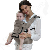 NEOtech Care Ergonomic Baby Carrier with Hip Seat -Detachable & Fully Adjustable - 100% Cotton -Blue Colour