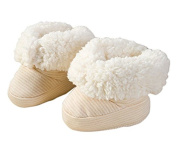 Hosaire 1 Pair Newborn Thick Warm Fleece Boots Toddler Baby Girl Baby Boy Wool Snow Crib Shoes Booties