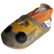 Dotty Fish - Soft Leather Baby & Toddler Shoes - Boys - Vehicles
