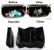 CooCoo4U Waterproof Foldable Black Car Boot Organiser Storage Bag Protable Auto Storage Box Multi-use Tools Organiser