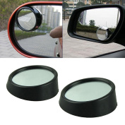 Boldion(TM) Universal Car 2pcs/Set Driver 2 Side Wide Angle Round Convex Car Vehicle Mirror Blind Spot Auto Rear View Car-Styling