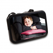 Baby Car Mirror, Back Seat Rear-facing Infant In Sight, Superior Clarity, Shatterproof, Shatterproof Crash Tested and Fully Adjustable - Instals in Seconds in any Car
