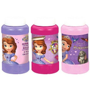Disney Sofia The First Bubble Bottle Princess Birthday Party Toy Favour and Prize Giveaway (6 Pack), Multi Colour, 120ml
