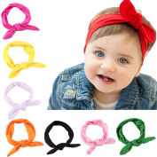 Zedtom 8pcs Multicolor Cute Baby Bowknot Headbands Headwear Turban Hair Bands