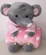 Plush Soft Cuddly Toy And Blanket Set