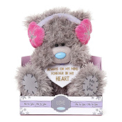 23cm Love Heart With Ear Muffs Me to You Bear