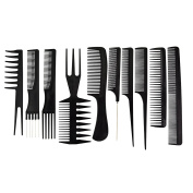 SUMERSHA 10pcs Barbers Combs Salon Hairdressing Styling professional Tool Sharp Tail Combs Anti-static Comb