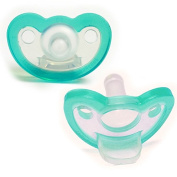 Pack of 2 JOLLYPOP Pacifier Dummy Latest Innovation in Dummies From Inventor of Gumdrop - 0-3 months Teal