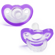 Pack of 2 JOLLYPOP Pacifier Dummy Latest Innovation in Dummies From Inventor of Gumdrop - 0-3 months Lavender
