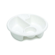 The Neat Nursery Co Circular Top'n'Tail Wash Bowl. White - Pack of 2