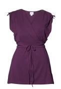 Boob Design 2 in 1 Maternity And Nursing Breastfeeding Tshirt 'Bianca' Purple in Wrap Look with 'Lyocell