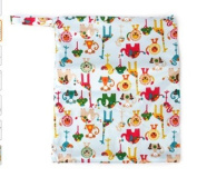 Flyyfree Baby Waterproof zipper Reusable Cloth Nappy Bag Snap Tote Colourful Animals Pattern