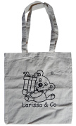 Larissa & Co Teddy Bear Eco-Friendly Exclusive Designer Cotton Re-usable Tote Shopper Designed in Wales Printed in England