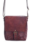 Mens / Ladies Vintage Buffalo Leather Cross Body / Shoulder Bag in Brown