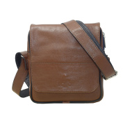 Handmade genuine leather messenger bag for men crossbody