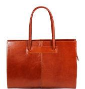 Attractive practical leather Camel Italian handbag Agnese Camel over the shoulder