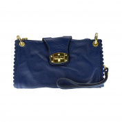 Laura Moretti - WRISTLET leather handbag with twistlock